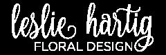 Leslie Hartig Floral Design Sticky Logo